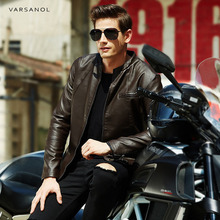 Buy Varsanol Leather Jackets Men Autumn Leather Clothes Solid Bomber Jacket Male Business Casual Coats Brand Clothing Zipper Pocket for $36.30 in AliExpress store