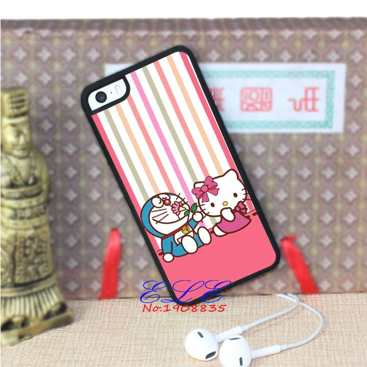 Doraemon and hello kitty (2) cell phone case cover for iphone 4 4s 5 5s se 5c 4 4s 5 5s se 5c 6 6 plus 6s 6s plus 7 7 plus J3895(China (Mainland))