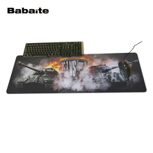 Babaite World Tanks Games Battlefront Unique Design Aming Style Gaming Mouse Pad PC Computer Laptop Gaming Mice Mat For Gamer