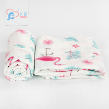 Newborn Muslin Baby Blankets Organic Super Soft Baby Swaddle Wraps Newborn Photography Blanket Printing New Design 120x120cm