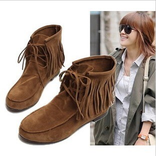 chaussures bottines femmes 2015 ladies autumn winter flat  ankle shorts  fringe  shoes boots woman  causal snow boots 7759p20<br><br>Aliexpress