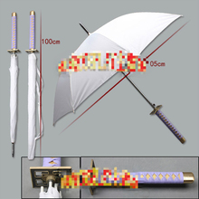 3D New Hot Unique Creative Sakura Knife Cartoon Animation Cosplay Samurai Sword Umbrella Home Decor Weeding Birthday Gift