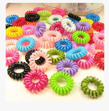 nt15 Special Offer Limited Free shipping Solid Adult Fashion Women Elastic Hair Bands Sweet Candy Color Phone Rope Hair Ring(China)