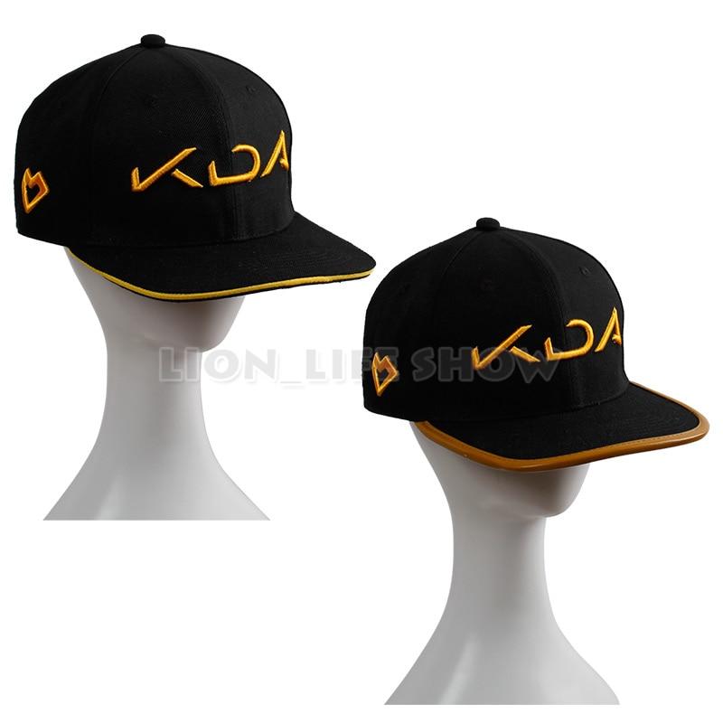 WUKUISHOU KDA Akali Hat Cosplay Baseball Cap Snapback Hat for Kid Adult Costume Purple