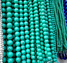 Green  beads Natural Stone Top quality ore Round Loose beads ball size 6/8/10/12MM handmade Jewelry bracelet making DIY