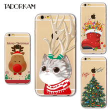 Interesting Christmas For iphone 7 7 Plus Case Soft TPU Santa Claus Transparent Phone Back Cover fundas for iphone 6 6s plus