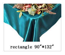 "Free shipping rectangle tablecloth size 90""*132"" color dark  teal for wedding decoration /cheap outdoor christmas decorations"