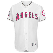 MLB Men's Los Angeles Angels Baseball White Mother's Day Flex Base Team Jersey(China)