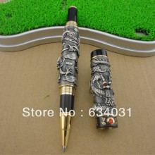 JINHAO GRAY roller ball pen BROAD NIB DRAGON PLAY THE PEARL