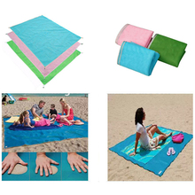 Hot Summer Beach Mat 200X150cm Outdoor Picnic Mattress Camping Beach Mat Magic leak sand Mat 3 Color Easy to clean up(China)
