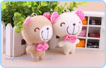 Kawaii Choco Teddy Bears Plush Stuffed TOY DOLL ; Plush TOY Mobile Cell Phone Strap ; Keychain & BAG Pendant(China)