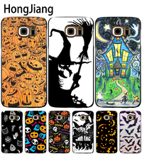 HongJiang Pumpkin Halloween Bat Witch Boo cell phone case cover for Samsung Galaxy A3 A310 A5 A510 A7 A8 A9 2016 2017(China)