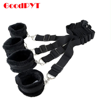 Adult Game Sex Products Handcuff Underbed Bed Restraint Kit Hidden Fetish Bdsm Bondage Sex Toys For Couples Kit Hand Ankle