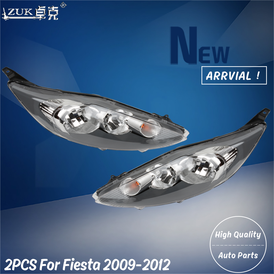für Ford Fiesta Scheinwerfer chrom 2009-2012 links