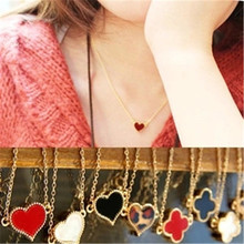 New Fashion Love Red Black White Clover Necklace Sexy Leopard Print Enamel Women Chokers Necklace Girl Jewelry Holiday Gifts