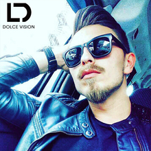 DOLCE VISION Polarized Original Mirror Sunglasses Men Fashion Shades Brand Designer Sun Glasses Eyewear Multi Color sun(China)