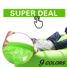 Fast Inflatable Air Sleeping Bag Sofa Air Bed Lazy Bag Laybag Chair Couch Lounger Saco de dormir