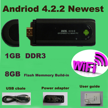 mas nuevo Original MK809 Android 4.2 HDMI TV del palillo de la TV Dongle Rockship RK3066 1 GB 8 GB Mini PC Android envio gratis