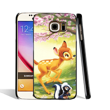 06515 CUTE FOREST ANIMALS BAMBI BUNNY cell phone case cover for Samsung Galaxy S7 edge PLUS S6 S5 S4 S3 MINI
