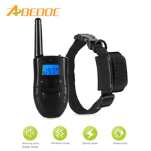 ABEDOE Dog Training Collar 300m Remote Control Vibrating & Shock 100% Waterproof IP67 Bark Collar for Large Medium Small Dogs(China)