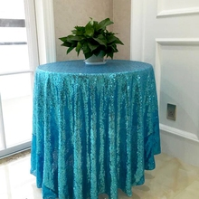90 inches Round Wedding Tablecloth Aqua Blue Glitter Sequin Tablecloth Sequin Tablecloth Wedding Cake Table/Event/ Party