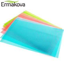 ERMAKOVA Multipurpose 4 Pcs/Lot EVA Refrigerator Freezer Mat Anti-fouling Anti Frost Anti-slip Waterproof Pad Table/Drawer Mat(China)