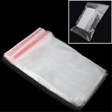 100pcs 16x24cm Zip Lock Seal Reclosable Clear Plastic Square Packing Storage Bags High Quality(China)