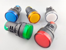 Indicator AD16-22DS DC 12V LED signal lamp Red/Green/Huang/Blue/White Indicator Lights