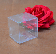 Jolly 12.15 100pcs/lot Small Size Clear PVC Square Wedding Favor Gift Box Transparent Party Candy Bags Wholesales