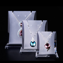 Lot of 3 Acrylic Jewellery Display Holder Earrings&Necklace Display Stand Frosted High Quality Necklace Rack(China)