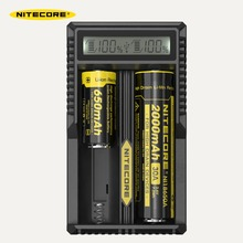 Original Nitecore UM20 18650 Lithium Battery Charger USB LCD Display Digicharger for 17500 14500 Li ion Batteries Charging