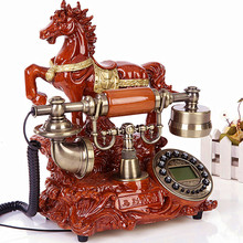 Top Ye fashion originality, antique European style garden retro telephone, home old-fashioned fixed line office phone Landline a