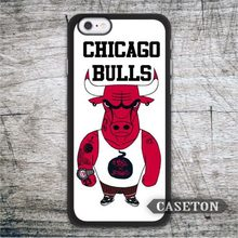 Mascot Chicago Bulls Case For iPod 5 and For iPhone 7 6 6s Plus 5 5s SE 5c 4 4s Basketball Fans Phone Ultra Cover