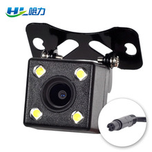 HD CDD Rear View Camara Lens Reverse Camera 2.5mm Jack With 6 Miters Cable Night Vision 4 Led Lamps for Car Dvr Mirror Recorder