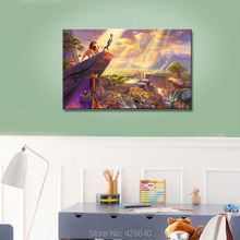 Thomas Kinkade Oil Paintings The Lion Art Decor Painting Print Giclee Art Print On Canvas(China)