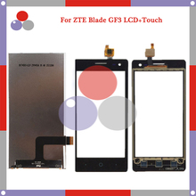 100% New Touch Screen+LCD Display For ZTE Blade GF3 4.5'' Screen Digitizer Glass Sensor Panel Black Shipping+Tracking Code