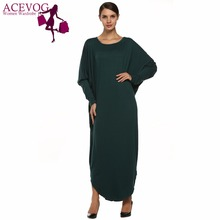 Buy ACEVOG Women Loose Dress Fashionable Style Super Big Maxi Long Batwing Sleeve Casual Spring Autumn Winter Dresses Vestidos for $18.35 in AliExpress store