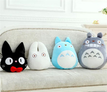 Hayao Miyazaki My Neighboor Totoro Kiki's Delivery Service Black Cat Jiji Plush Toys Kawaii Japan Anime White Totoro Neko Dolls(China)