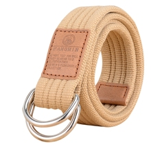 Buy Hot Men Canvas Belt Military Equipment Cinturon Western Strap Men's Belts D-ring Buckle Belt leisure business for $3.53 in AliExpress store