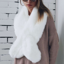 Winter Warm Natural Faux Fur Collar Fluffly Fox Scarves Women Lady Girls Chic Accessories Fur Neck Warmer Scarfs Pashmina 6Q0233