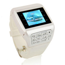 White Q5 Unlocked Touch Screen GSM Wrist Watch Mobile Cell Phone Bluetooth Keypad MP3