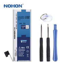 Original NOHON Battery For Apple iPhone 5 5G Real Capacity 1440mAh Free Repair Machine Tools With Retail Package