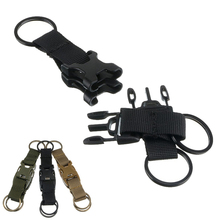 Outdoor Handy Three Snap Buckle Military Nylon Key Hook Webbing Molle Buckle Outdoor Hanging Belt Clip Kits My Urban Beauty(China)
