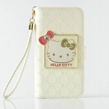 High Quality PU Leather Flip Brief Hello Kitty Phone Cases For Iphone 6 6s 6Plus 6sPlus 7 7Plus With Card Pocket With Stand Case