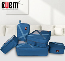 BUBM 7 Sets Packing Cubes For Travel Luggage Organizer For Clothing Laundry Bag Toiletry Bags For Electronics For Women Men(China)