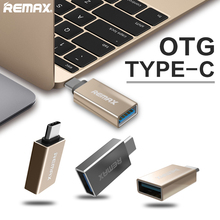 Remax USB-C 3.1 Type C Male to USB 3.0 OTG Adapter Converter OTG Data Sync Charger Charging HUB For MacBook for nokia N1 Zuk z1