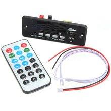7-12V Handsfree Bluetooth MP3 Decoder Board With Bluetooth Module+FM Free Shipping