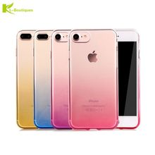 Buy Ultra-thin Gradient Clear Case iPhone 8 Plus Cases iPhone8 8Plus Colorful Soft Silicone Gel Phone Cover Back Capa for $1.03 in AliExpress store
