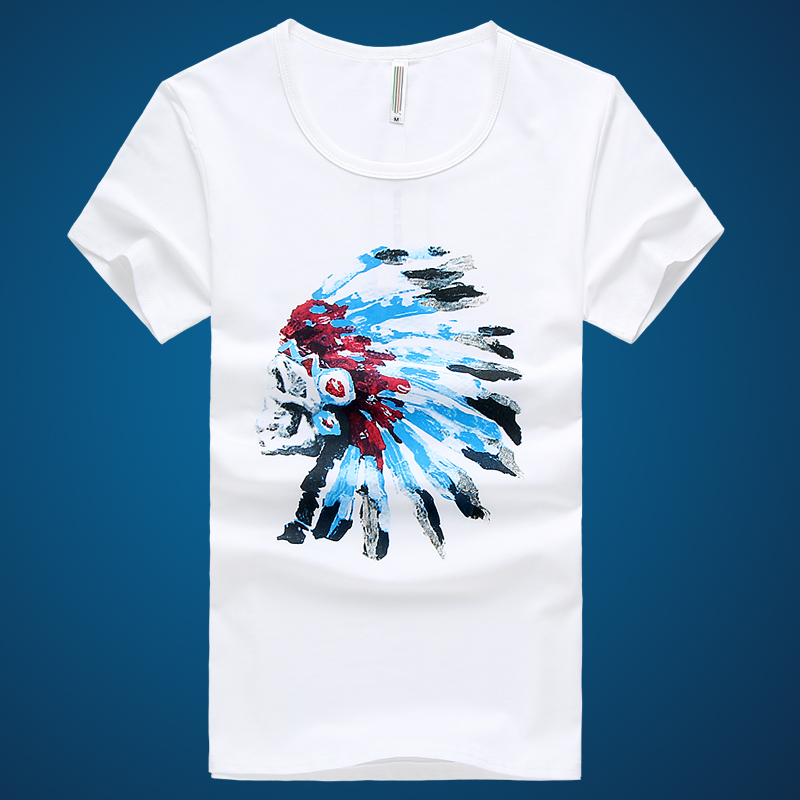 Online Brand Indian Head Men S T Shirt Summer Clothing With 100 Cotton Printing American For Aliexpress Mobile