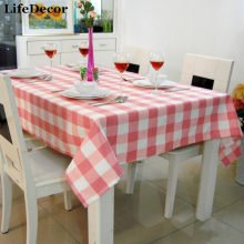 Pink plaid restaurant table cloth chair cover cloth table cloth cover various kinds of fancy customize